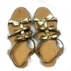 Marc Jacobs Gold Strappy Bow Sandals
